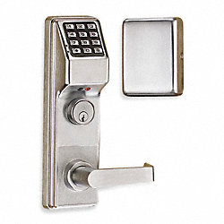 Electronic Cntrl Lock, Chrm, Lvr, 12 Button