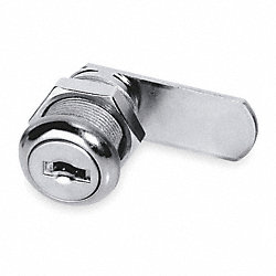 Disc Cam Lock, Nickel, 5 Pin, Length 7/8 In