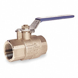 Ball Valve, Brass, 1 In NPT, Full Port