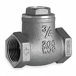 Swing Check Valve, 1-1/4 In, FNPT, Brass
