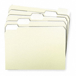 File Folders, 5 Tab Cut, Manila, PK100