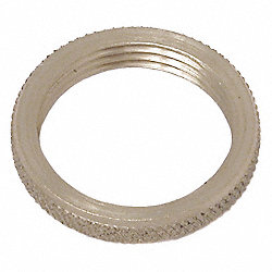 Panel Nut, Round, 3/8-32, Brass, Plain, PK 2