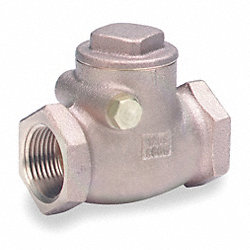Swing Check Valve, 1/2 In, FNPT, Bronze