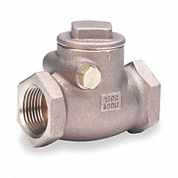 Swing Check Valve, 1 In, FNPT, Bronze
