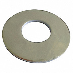 Flat Washer, SAE, Zinc, Fits #10, Pk 100
