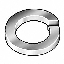 Split Lock Washer, Zinc, Fits 3/8 In, Pk100