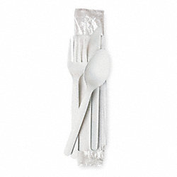Wrapped Cutlery, White, Pk250