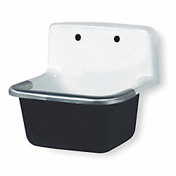 Service Sink, Wall Hung, Cast Iron