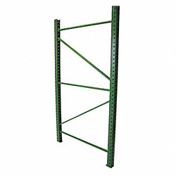 Welded Upright Frame, 48 D x 96 H, Green