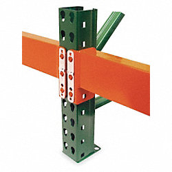 Pallet Rack Beam, 96x2-1/2x4, Orange