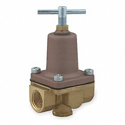 Pressure Regulator, 1/2 In, 3 To 50 PSI