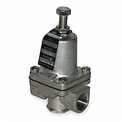 Pressure Regulator, 1/2 In, 10 To 125 PSI