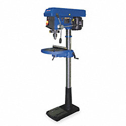 Floor Drill Press, 17 In, 3/4 HP, 115V, 12A