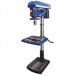 Floor Drill Press, 20 In, 1 HP, 115V, 15A
