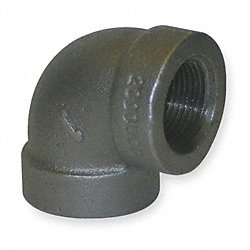 Elbow, 90 Deg, 2 In, NPT, Black Iron