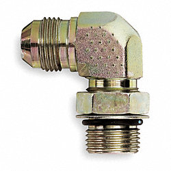 Male Connector, 90 Deg, 1/2 In Tube Sz, SS