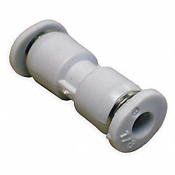 Straight Union, Push In, Tube 1/8 In, PK 10