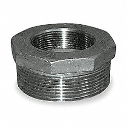 Hex Reducing Bushing, 3 x 1 1/2 In, 316 SS