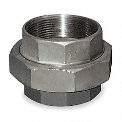Union, 2 In, 304 Stainless Steel, 150 PSI