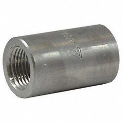 Coupling, 1 In, 316 Stainless Steel