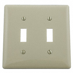 Wall Plate, Switch, 2Gang, Ivory