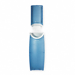 Dispenser & Receptacle, Plastic, Blue