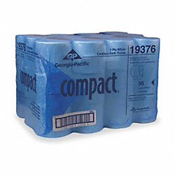 Toilet Paper, Compact, Coreless, 1Ply, PK36