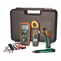 Multimeter, Clamp Meter, Thermometer Kit