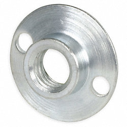 Retainer Nut, 1/2 In, Round Base, Steel