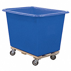 Poly Truck, 6 Bu, Blue, Wood Base
