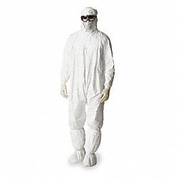 Hooded Tyvek(R), Serged, Elastic, 2XL, PK 25