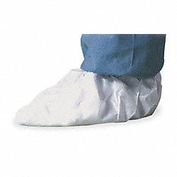 Shoe Covers, Slip Resist, XL, Wh, PK100