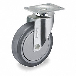 Swivel Plate Caster, 220 lb, 5 In Dia