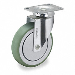 Swivel Plate Caster, 240 lb, 6 In Dia