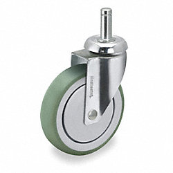 Swivel Stem Caster, 5 In, 220 lb, TPR