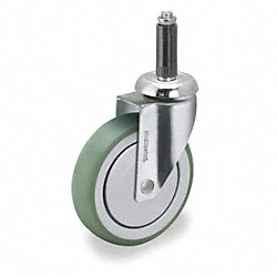 Swivel Stem Caster, 6 In, 240 lb, TPR