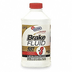Brake Fluid, 12 Oz, Yellow to Amber
