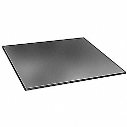 Rubber, SBR, 1/4 In Thick, 12 x 12 In, Black