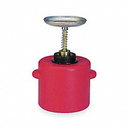 Plunger Can, 1 Gal., Polyethylene, Red