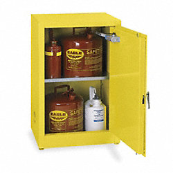 Flammable Safety Cabinet, 12 Gal., Yellow
