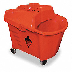Mop Bucket and Wringer, 35 qt., Red