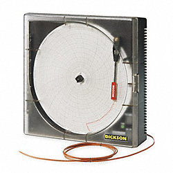 Circular Chart Recorder, Temp, 8 In