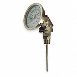 Bimetal Thermom, 3 In Dial, -20 to 120F