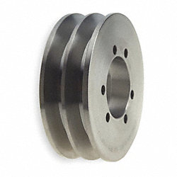 V-Belt Pulley, 6 In OD, 2GRV