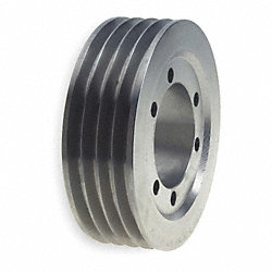 V-Belt Pulley, 25 In OD, 4GRV