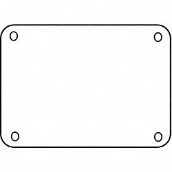 Custom Sign, 7-5/8x10-1/4In, WHT, BLK, PK10