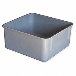 Heavy Duty Nesting Box, L 9 3/4 In, Gray