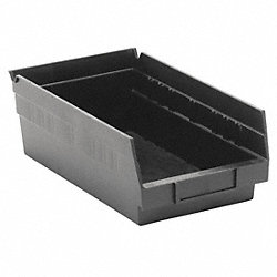Shelf Bin, Recycled, L 11 5/8, W 6 5/8, Blk