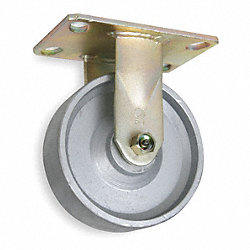 Rigid Plate Caster, 1750 lb, 6 In Dia