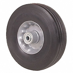 Solid Rubber Whl, 8 In, 350 lb